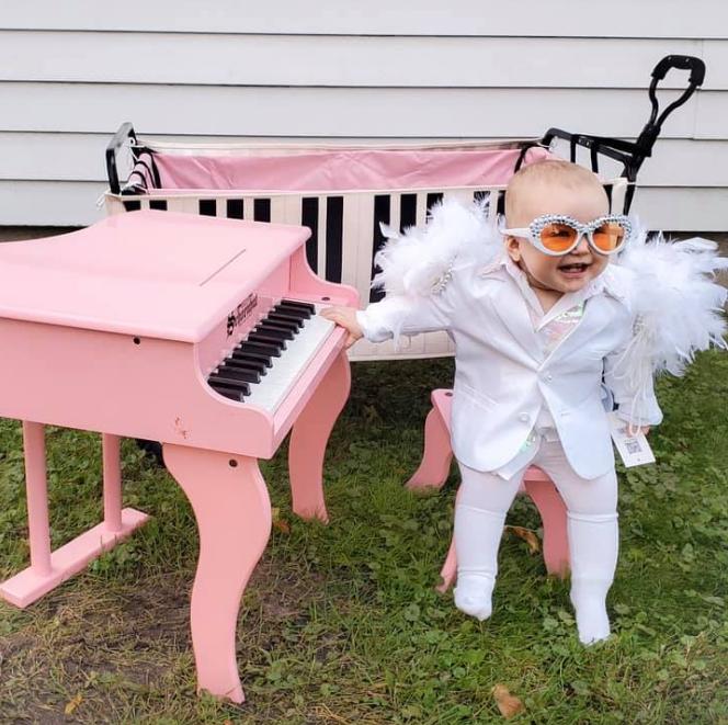 Preslatka curica bit će maleni Elton John za prvi Halloween