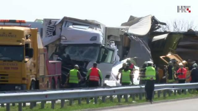 Sudarilo se 20 kamiona, dva su vozača umrla, Hrvati imali sreće