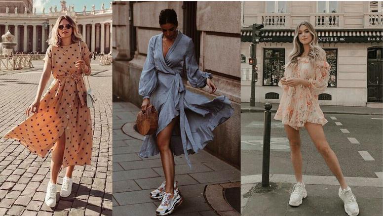 Proljetna haljina i tenisice: 10 kombinacija casual elegancije