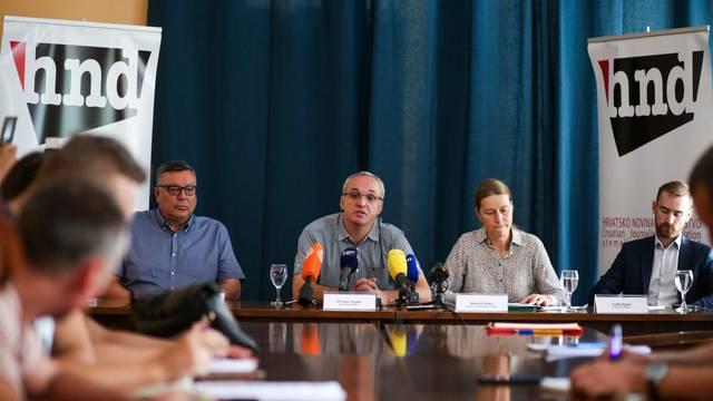 """Zagreb: Konferencija za medije """"Pokušaj otimanja imovine HND-u"""""""