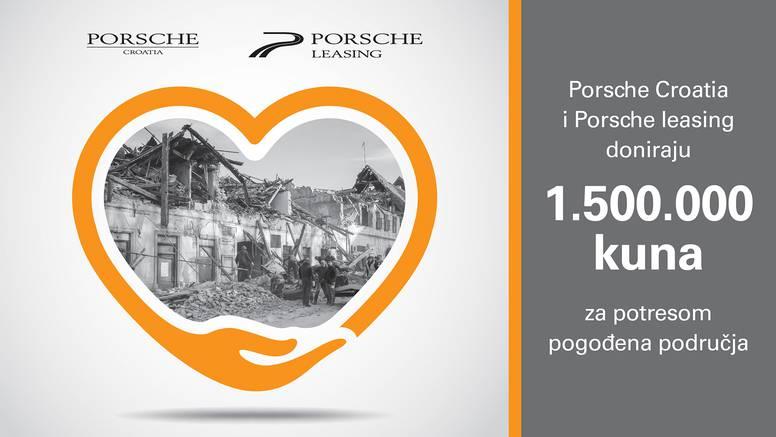 Porsche Croatia i Porsche leasing donirali 1,5 mil. kuna za potresom pogođena područja