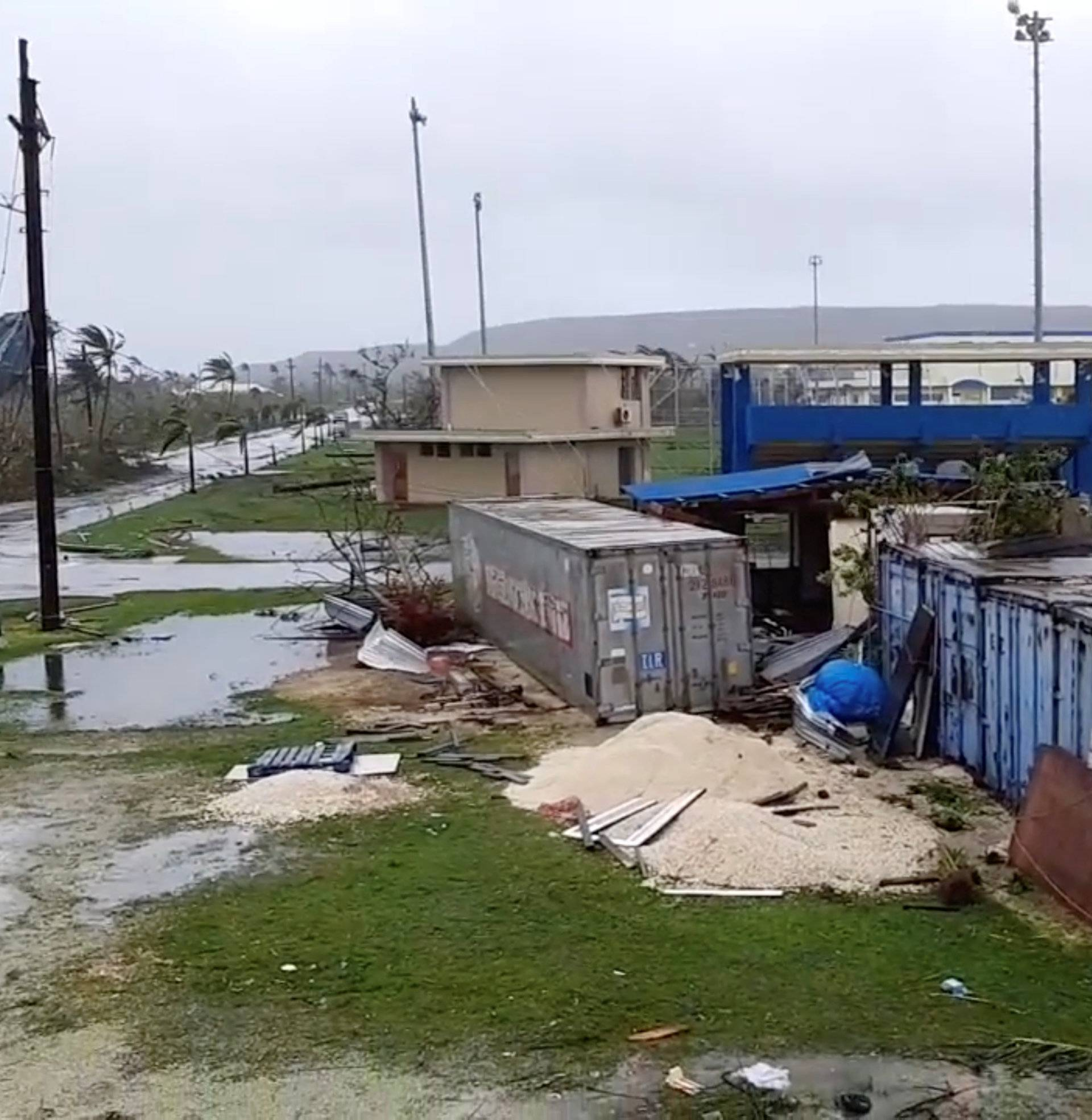 A view shows damages caused by Super Typhoon Yutu in Tinian