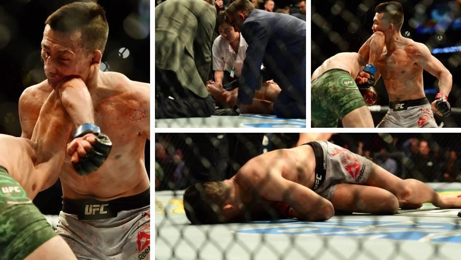 Najluđi UFC finiš ikad! Lakat  sa zvukom sirene i šok nokaut