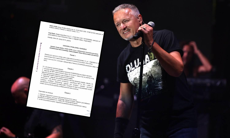 Ugovor o koncertu: Grad Split se 'osigurao' u slučaju rata...