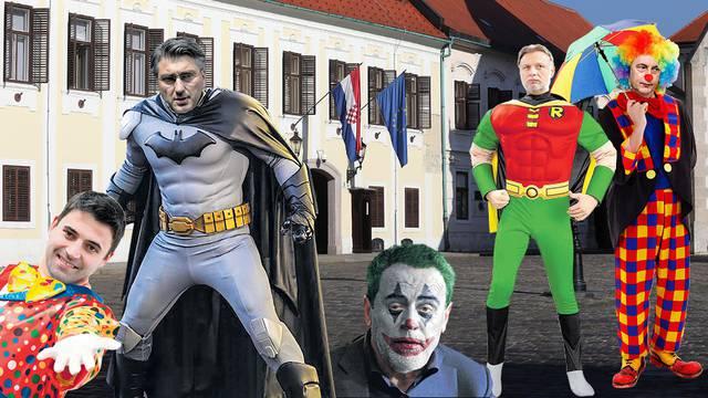 Plenki je Batman, Jandroković Robin, Bandić je Joker... A njima je Hrvatska kao putujući cirkus