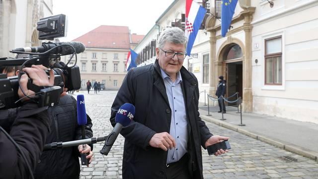 Zagreb: Ante Ćorušić na sastanku u Banskim dvorima