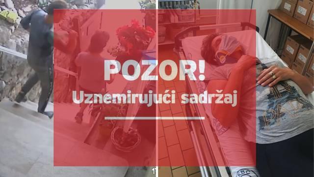 Brutalan napad u Splitu snimile kamere: Ženu udario bocom i nastavio mlatiti na stepenicama