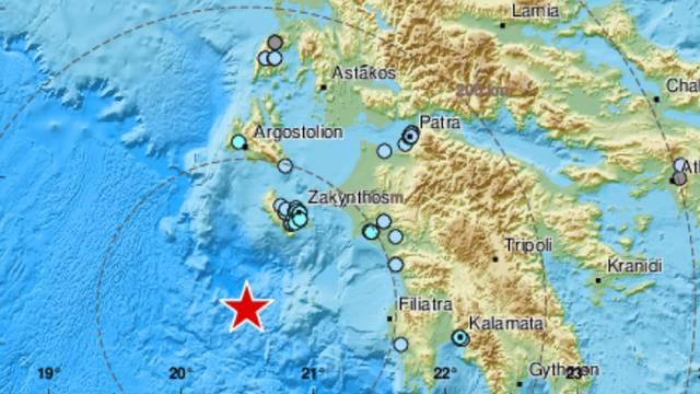 Potres od 5.2 u moru kod Grčke