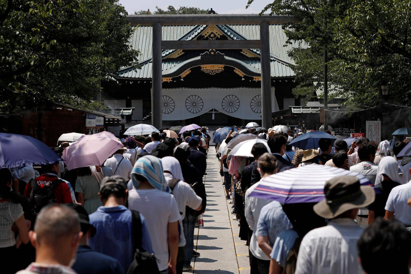 Visit to Yasukuni Shrine in Tokyo on the 75th anniversary of Japan's surrender in World War Two