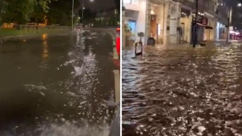 VIDEO Kaos u Londonu: Bujične poplave zatvorile ceste i blokirale javni prijevoz u gradu