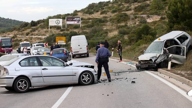 Šibenik: U prometnoj nesreći sudjelovala četiri automobila