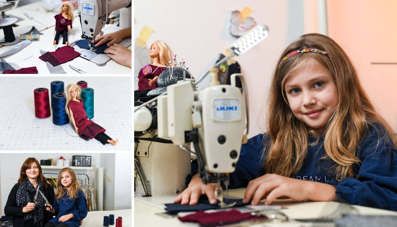 Erna (8): Sama dizajniram, ali i šivam odjeću za svoje Barbike