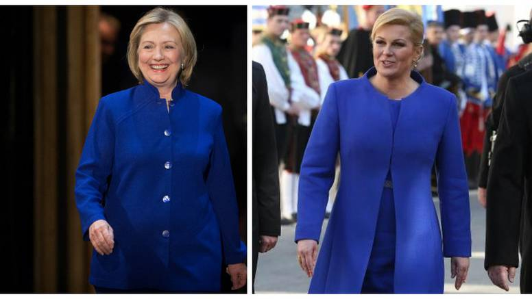 Tko tu koga kopira? Hillary i Kolinda su modne dvojnice