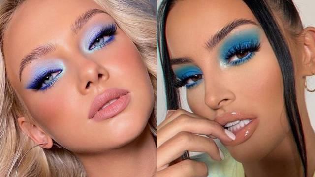Sjenila i tuševi plavih tonova su idealne nijanse za isticanje oka
