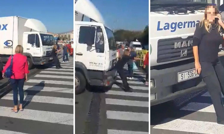 Nevjerojatna snimka iz Splita: Žena je stala ispred kamiona
