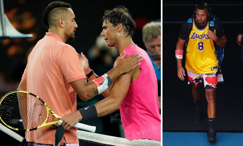 Kyrgios se zagrijavao u dresu  Bryanta pa izgubio od Nadala