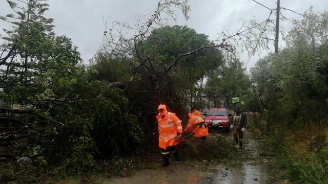 A rare storm known as a Medicane (Mediterranean hurricane), hit western Greece
