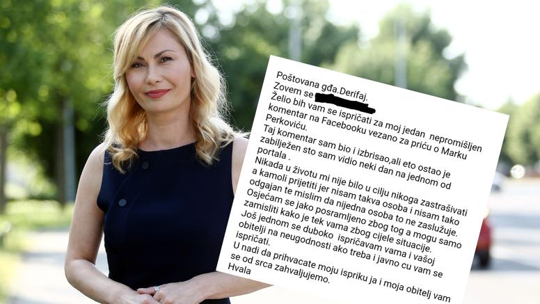 Danka Derifaj objavila poruku isprike od čovjeka koji joj je prijetio zbog slučaja Thompson