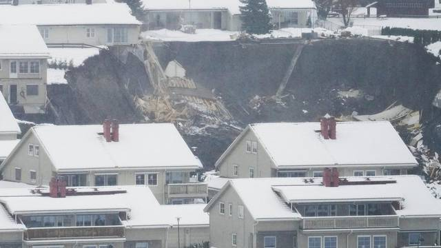 Landslide in Ask village, Norway