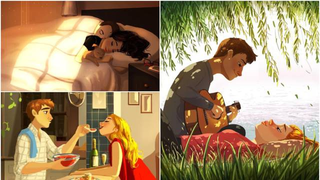 Ilustracije mlade slikarice koje pokazuju kako  izgleda ljubav...