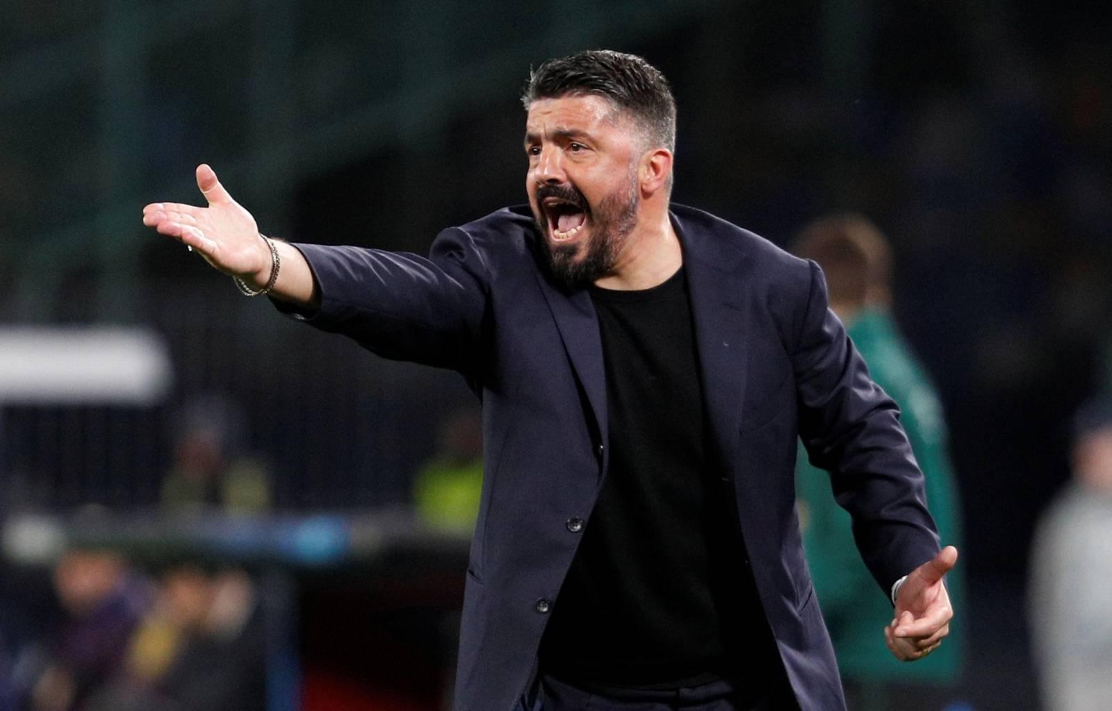 Champions League - Round of 16 First Leg - Napoli v FC Barcelona