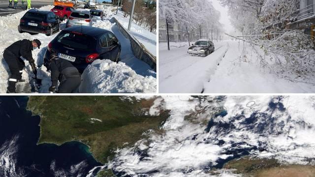 Oluja Filomena zaledila Madrid, sad će i Hrvatsku zahvatiti dio ledenog vala, bit će i minus 15