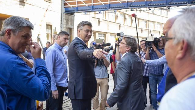 Rijeka: Predsjednik Vlade Andrej Plenković obišao brodogradilište 3. Maj