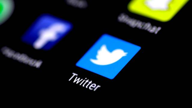 FILE PHOTO: The Twitter application is seen on a phone screen