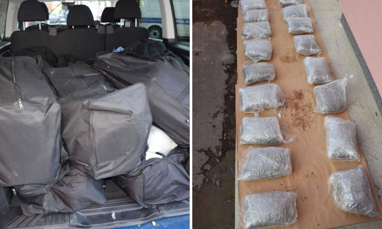 U kombiju na autocesti A1 našli čak 200 kilograma marihuane