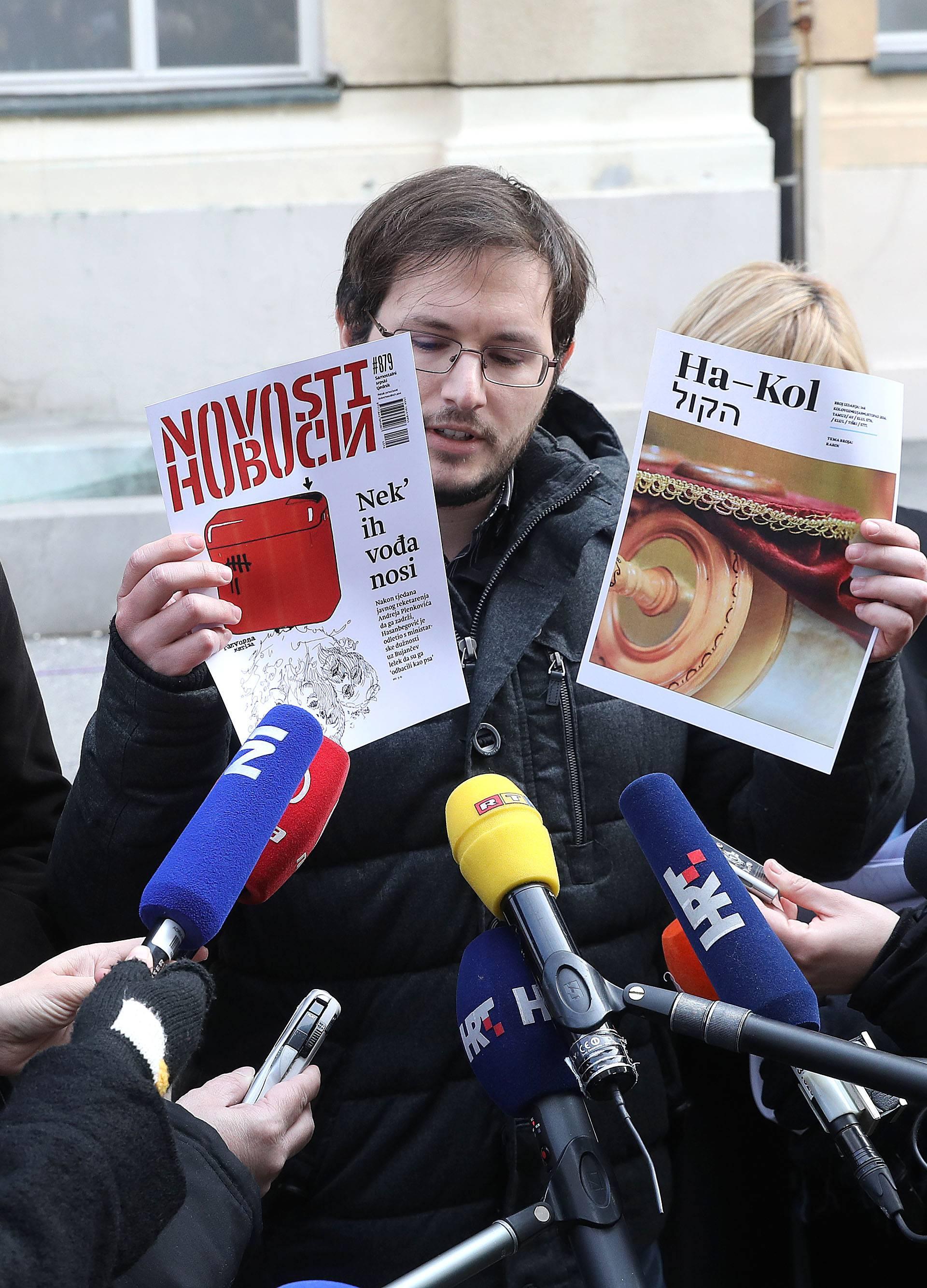 'U ime obitelji nema pravo huškati na tjednik Novosti'