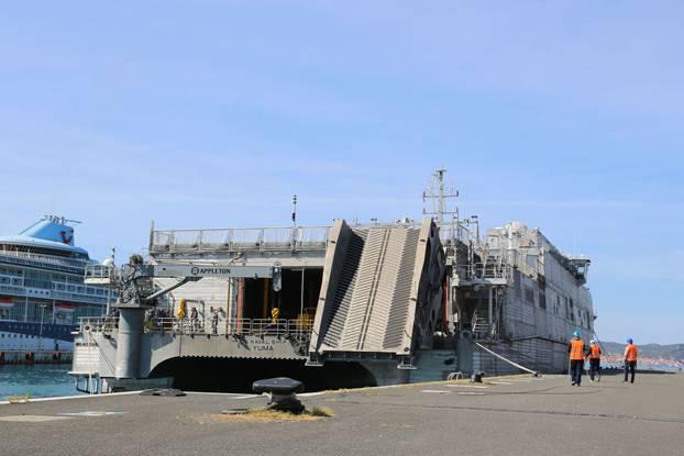 """Američkim brodom """"YUMA"""" stigao dio opreme za vježbu Immediate Response 21"""