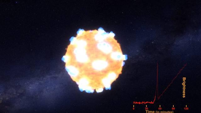 NASA prvi put uspjela snimiti bljesak zvijezde koja umire