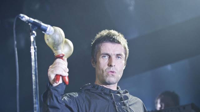 Liam Gallagher live on stage at the Barrowlands in Glasgow.
