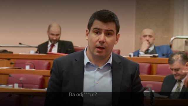 """Josip Đakić Mostovom Grmoji u Saboru poručio: """"Odje*i!"""""""