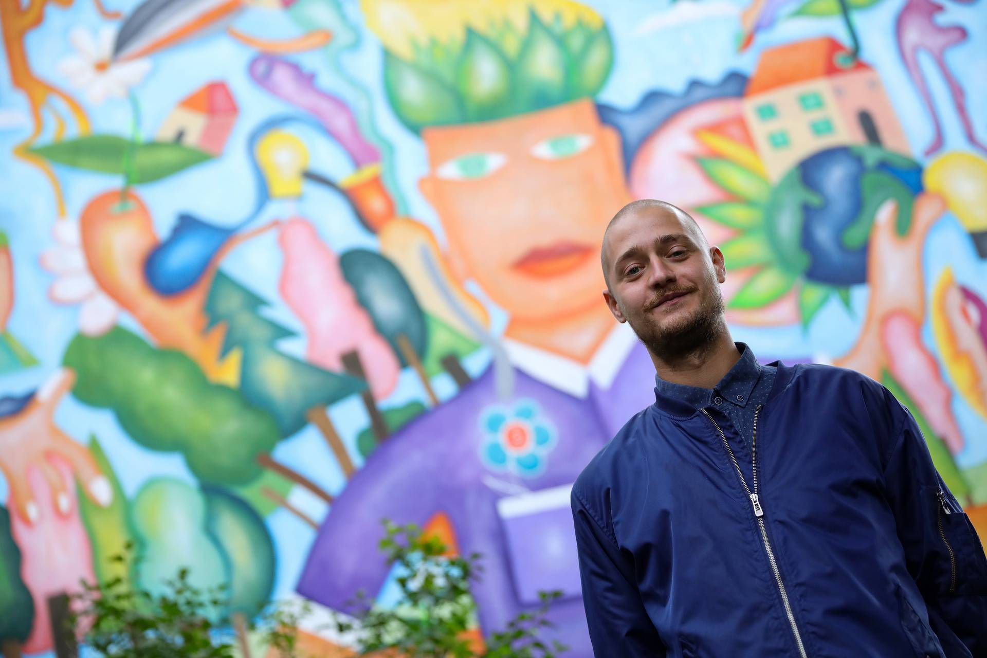 Prekrasan mural 'Zeleni čovjek' simbol je ponovnog rođenja