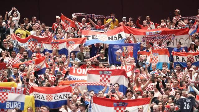 Graz: Atmosfera u dvorani uoči utakmice Hrvatska - Srbija