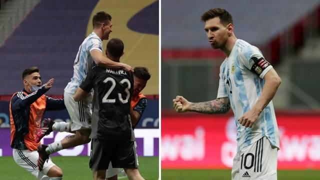 Argentinci srušili Kolumbijce: Messi na Neymara u finalu Cope