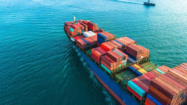Aerial,View,Container,Cargo,Ship,,Import,Export,Commerce,Business,Trade