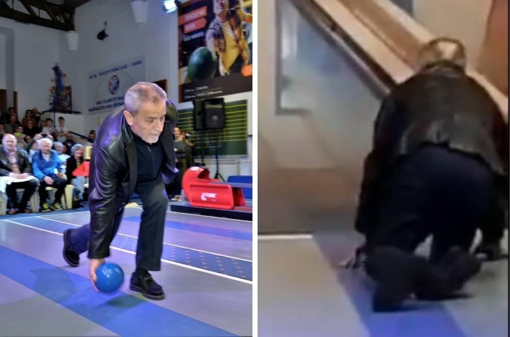 Bandić je pokušao kuglati: Nije mu baš išlo, završio je na podu