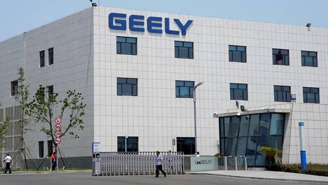 A building of the Geely Auto Research Institute is seen in Ningbo