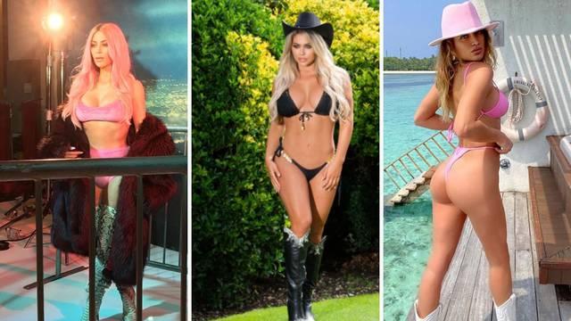 Razgolićene zvijezde poziraju u bikiniju - a na nogama su čizme!