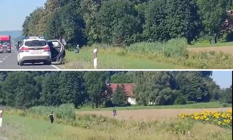 Pogledajte snimku: Zaustavili auto prepun ukradene robe, lopovi krenuli bježati u polje