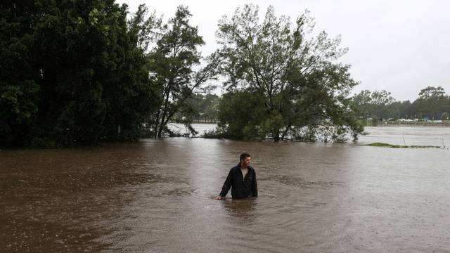 A severe rain event affecting the state of New South Wales is seen in Sydney