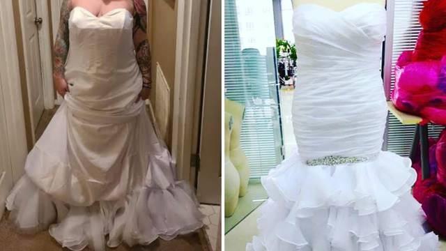 Žalila se na vjenčanicu pa su je ismijali: 'Obukla si ju naopako'