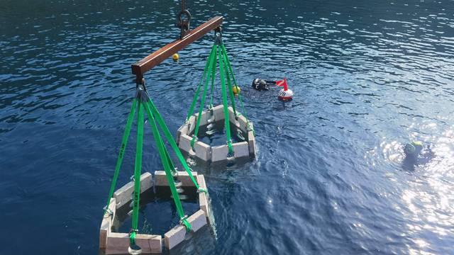 Prvi umjetni podmorski greben na Kvarneru postavili na Cresu