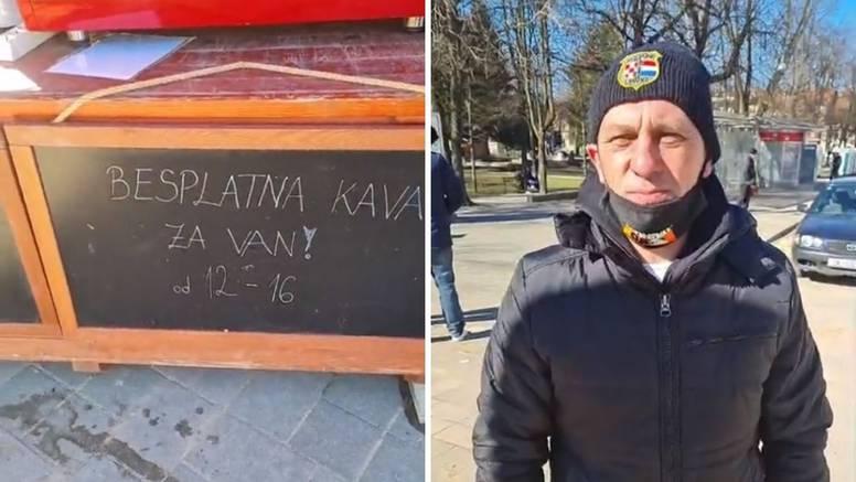 U potresu ostao bez kafića, a danas je kavu dijelio besplatno