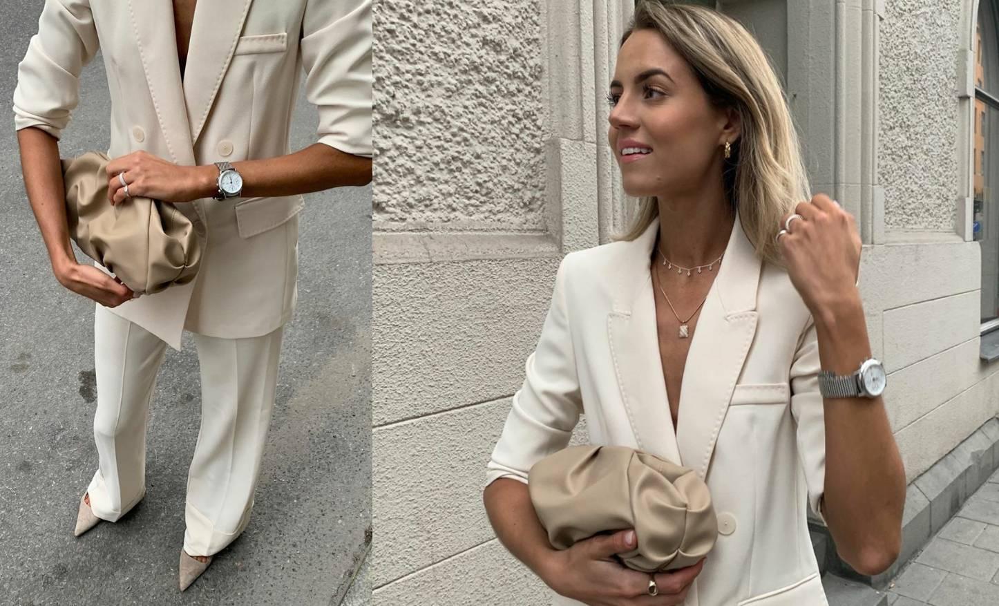 Idealno za ljetni event: Super elegantno odijelo boje vanilije