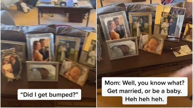Mama zašto jedino mene nema na obiteljskim slikama? Ona: 'Udaj se ili ostani beba'