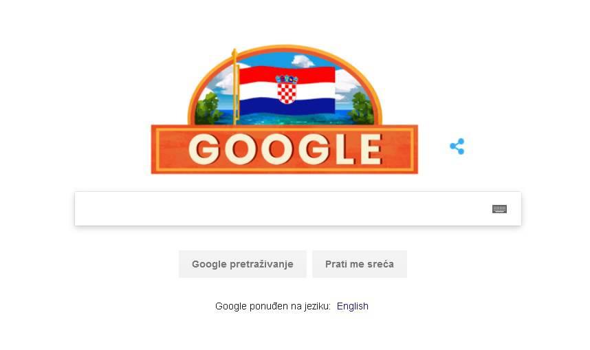 Google u hrvatskim bojama, čestitali nam Dan neovisnosti