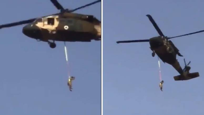 Talibani letjeli u Black Hawku, nisu objesili nikoga, to je visio čovjek s njihovom zastavom
